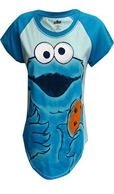 9278cf1067b5 Sesame Street Cookie Monster Blue Tee Shirt for women  http://www.beststreetstyle