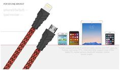 Awei Nylon Fast Charging Cable CL-700 / CL-800(Lightning / USB 2.0)