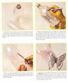 Como fazer borboleta de garrafa pet passo a passo | Artesanato passo a passo!
