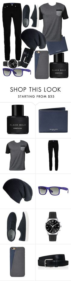 """""""my #2 men outfit!!!"""" by sirean ❤ liked on Polyvore featuring Kenneth Cole, Michael Kors, Billabong, Topman, Black, Ray-Ban, Uniqlo, FOSSIL, Tod's and men's fashion"""