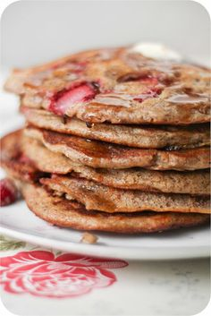 Adventures in Cooking: Whole Wheat Strawberry Pancakes