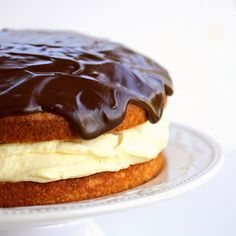 Boston Creme Pie....this is happening for my next bday cake