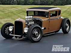 0911sr 04 Z+1930 Ford Highboy Coupe+firestone