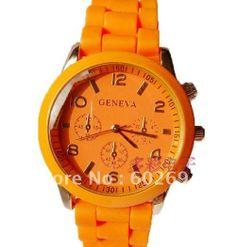 2012 New Fashion Designer Geneva Rose Gold Boyfriend Style Ladies Watch, 10 colors