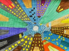 artisan des arts: Cityscapes looking up - grade six