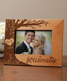 'Soulmates' Personalized Picture Frame With Date
