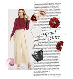 """CASUAL ELEGANCE"" by tanayareksa on Polyvore featuring Sara Battaglia, Charlotte Tilbury, FOSSIL, Morphe, casual, red and shein"