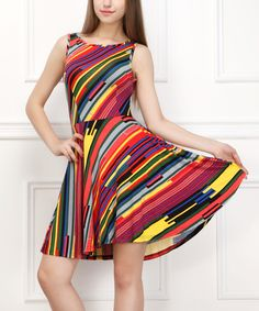 Green Rainbow Sleeveless Dress   zulily
