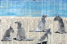 Hondjes op Russisch papier van whodith