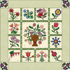 2011 BOM Flowers Quilt
