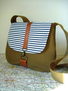 Jacksonville crossbody messenger bag by atlaspast on Etsy,