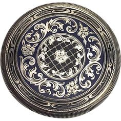 Antique Edwardian Hallmarked SILVER and Enamel COMPACT.
