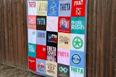 I like the instructions on this one better than the other t-shirt quilt I pinned