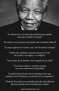 """""""La educación es el arma más poderosa que puedes usar para cambiar el mundo"""""""