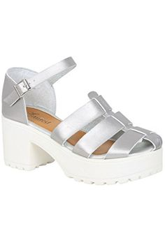 2754510d53d Yoursclothing Plus Size Womens Platform Gladiator Wide Fit Sandals Size 9  Silver -- Continue to the product at the image link. (This is an affiliate  link)