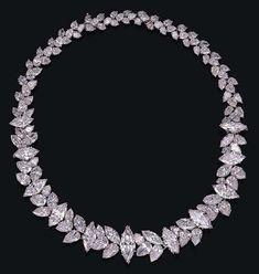 A superb diamond necklace, by Harry Winston.