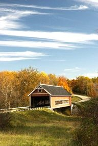 Ashtabula County's covered bridges — especially in fall! Click for details on a scenic drive: http://www.midwestliving.com/travel/ohio/ashtabula-county-ohio-driving-tour/#