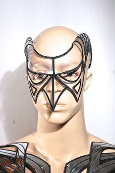 clear edc cyborg goggles with horns futuristic sci fi от divamp