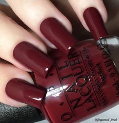 OPI we the female. OPI we the female. Fall Nail Colors, Nail Polish Colors, Fabulous Nails, Gorgeous Nails, Cute Nails, Pretty Nails, Essie, Finger, Hair Skin Nails