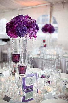 Simple Stunning Purple Wedding theme