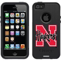 University of Nebraska N Huskers Schools design on OtterBox® Commuter Series® Case for iPhone 5 in Black