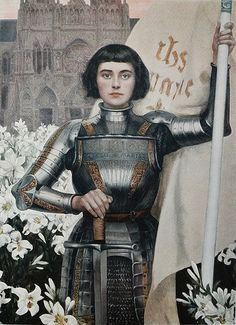 Joan of Arc by Albert Lynch (1851-1912) engraving from Figaro Illustre magazine, 1903
