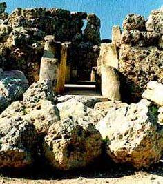 Portal des Tempels Ggantija auf Gozo
