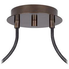 Possini Euro Tiger Bronze Cream Drum 2-Light Pendant