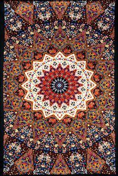 3D - India Star - Orange - Tapestry