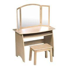 Kids' Vanities - Guidecraft Vanity and Stool ** Find out more about the great product at the image link.