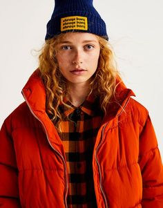Quilted jacket with funnel collar - Jackets - Coats and jackets - Clothing - Woman - PULL&BEAR United Kingdom