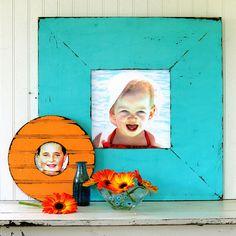 Obrien Schridde Aqua and Orange Frames