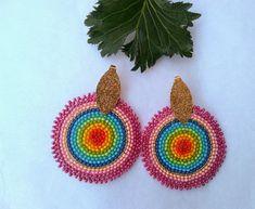 Crochet Earrings, Jewelry Making, Jewellery, Handmade, Jewels, Hand Made, Schmuck, Jewellery Making, Make Jewelry