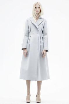 double-breasted neoprene coat by Emporio #Armani