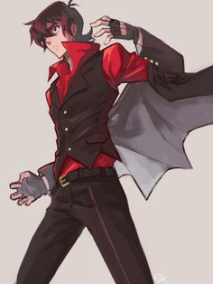 Keith as a red vampire from Voltron Legendary Defender