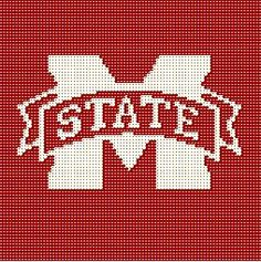 $5 - Mississippi State BABY -  Crochet Afghan Blanket Pattern by AngelicCrochetDesign on Etsy