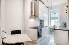 Blog wnętrzarski - design, nowoczesne projekty wnętrz: Mieszkanie w centrum Sztokholmu - inspiracja wnętrza w stylu skandynawskim z oryginalną cegłą - blog o urządzaniu domu design