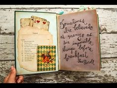 This is a flip-through of an Alice in Wonderland themed junk journal I made for my Etsy shop. (Journal is now SOLD.) Here is the link to the playing card pri...