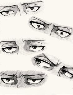 Levi's eyes, Attack on Titan Art Drawings Sketches Simple, Pencil Art Drawings, How To Draw Anime Eyes, Manga Eyes, How To Draw Men, Eye Drawing Tutorials, Drawing Techniques, Man Sketch, Drawing Expressions