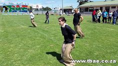 SAPD Strand Corporate Fun Day team building event in Strand, facilitated and coordinated by TBAE Team Building and Events Sack Race, Team Building Exercises, Rugby Club, Team Building Events, Good Day, Soccer, Racing, Fun, Buen Dia