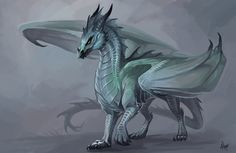 """Winter dragoness by Allagar """