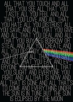 pink floyd deal borrow steal create say eat and well its all gone but not the music