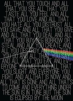 Lyric poetry: Pink Floyd Eclipse
