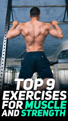 Check out the top 9 exercises for muscle and strength! #fitness #gym #exercise #exercises #workout #gymlife #gymrat