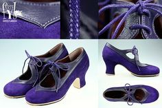 Zapatos flamencos artesanos para profesionales Andalucia, Oxford Shoes, Dance Shoes, Walking, Purple, My Style, How To Wear, Shopping, Fashion