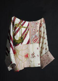 La Prestic Ouiston: mariniere julie, made from vintage silk scarves