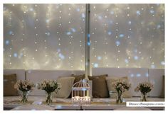 Deco para living principal con back de luces
