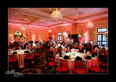 Beautiful Pink and Black colors in the Grand Ballroom at Drexelbrook Banquet Facilities, Dramatic Effect, Wedding Lighting, Black Colors, Old Hollywood, Natural Light, Special Events, Party Themes, Our Wedding