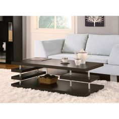 Furniture of America Aven Cappuccino Coffee Table - Coffee Tables at Hayneedle