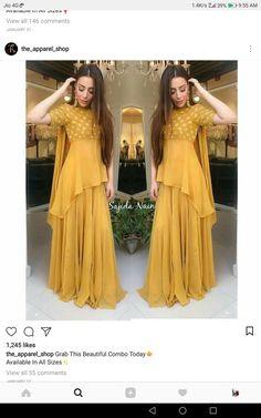 New Dress Design Indian, Dress Indian Style, Indian Designer Outfits, Indian Outfits, Designer Dresses, Kurti Designs Party Wear, Lehenga Designs, Indian Gowns Dresses, Pakistani Dresses